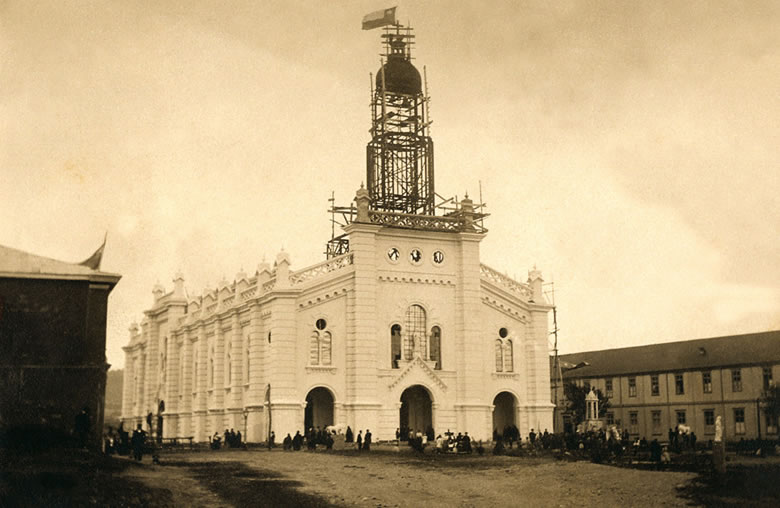 12CatedralAncudenConstruccion1910enterrenoChileamosantiago